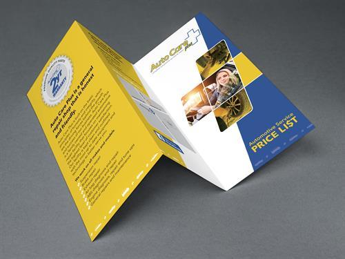 Brochure design for Auto Care Plus