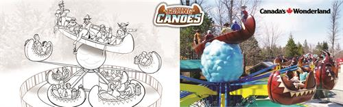 Concept illustration for Flying Canoes - Canada's Wonderland