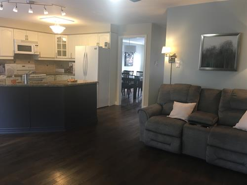 Family room - kitchen, open concept, main floor