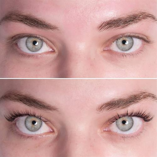Before and After of a Lash Lift with Tinting