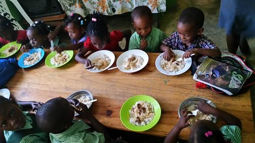 Our goal is to bring nutrition to the children who are starving so that they can not only grow their bodies big and strong but their minds while they are learning in the classroom.