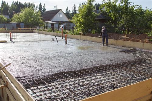 Slab on Grade Concrete Pour