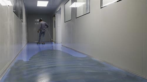 Epoxy Floor for Industrial Workspace