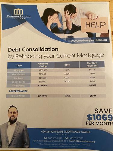 Debt Consolidation Flyer