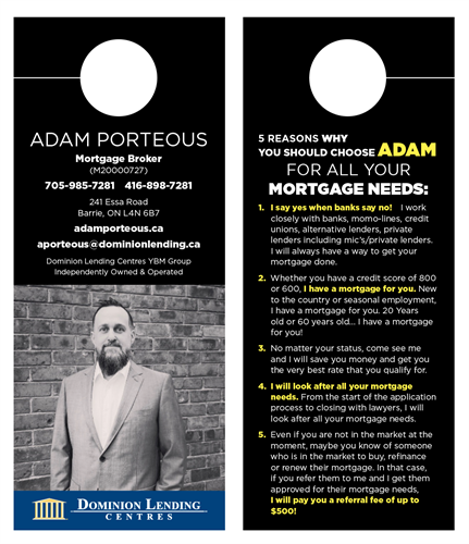 Why choose a mortgage broker door hanger