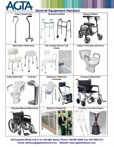 AGTA Home Health Care General Assistive Equipment