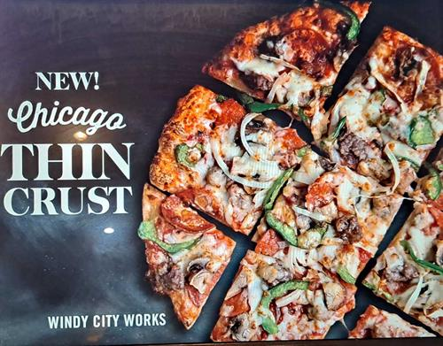 Chicago Thin Crust Pizza