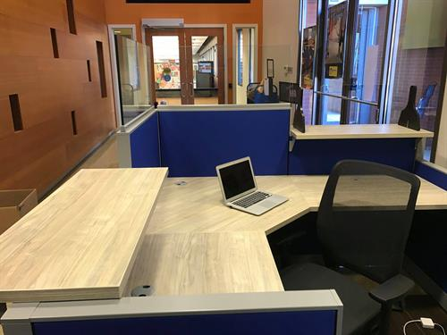 We Install Furniture! (One City Schools New Reception Area)