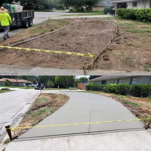 Semi-Circular Driveway Installation