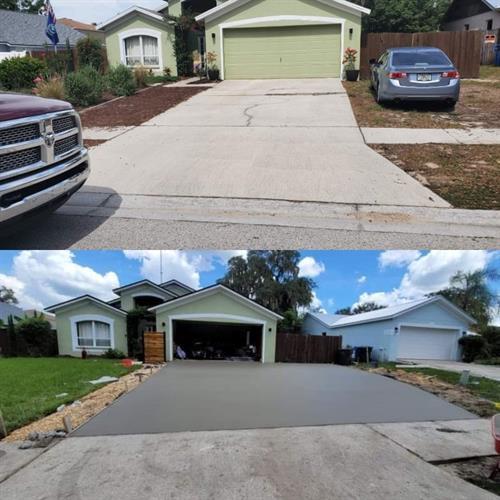 Driveway Replacement - Riverview, FL