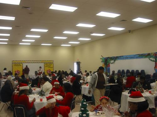 Xmas for Senior Citizens 2004 at Lincoln Elementary