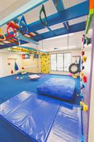 Our gym is specially designed for children with a fun and inviting atmosphere.