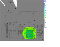 Heatmap showing where wireless coverage is within a building
