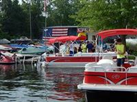 Pontoon Rental boats getting ready to leave the dock!