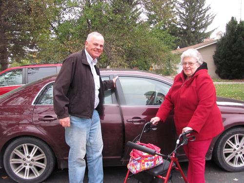 Senior Services - Volunteer Caregivers provide home bound seniors transportation