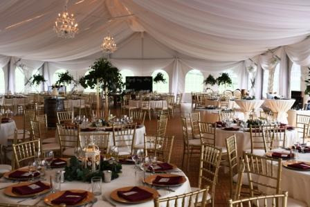 Event inside Lakeview Tent