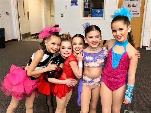 Mini and Junior competitive dancers ready to take the stage!