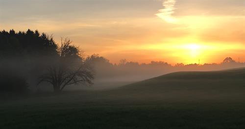 Sunrise over Kent Lake