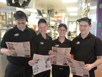 "Taco Bell crew loves the ""News"""