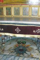 Where Christ was born in the Church of the Nativity in Bethlehem.