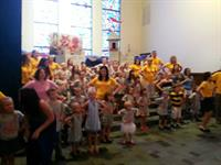 First Presbyterian kids love singing.