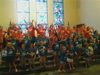 First Presbyterian Church kids love to sing and dance.