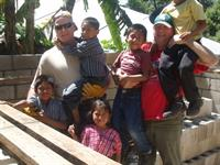 Guatemal kids hanging out at the worksite.
