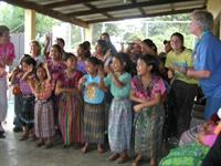 Guatemala girls learning a song.