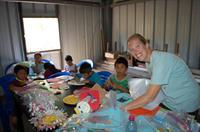 Working with Guatemala kids.