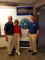 Bob, Esther, & Dan at a fellow chamber member's ribbon cutting!