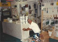 Bob at their paint store performing a Faux finish demo