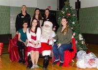 Staff with Santa