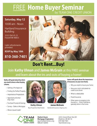 Free Home Buyer Seminar  May    Greater Brighton Area