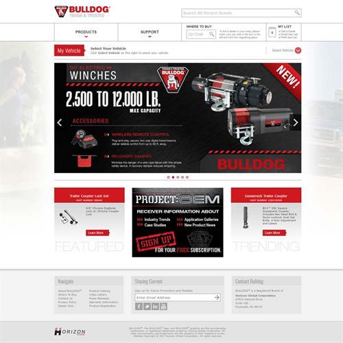 Bulldog Products Website