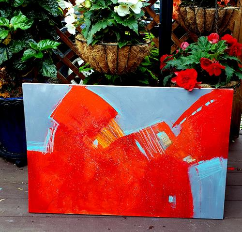 """Chasing the Red 36""""x24"""""""