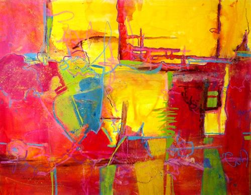 """It's party time 30""""x22"""""""