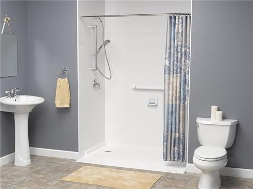 Barrier free showers for easy access