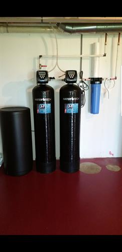 Iron filter, water softener