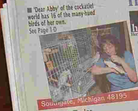 """Dear Abby"" of the Cockatiel World."