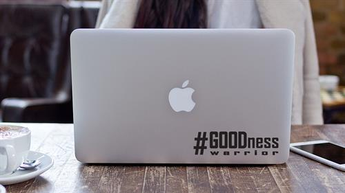 #GOODnessWarrior Laptop Sticker