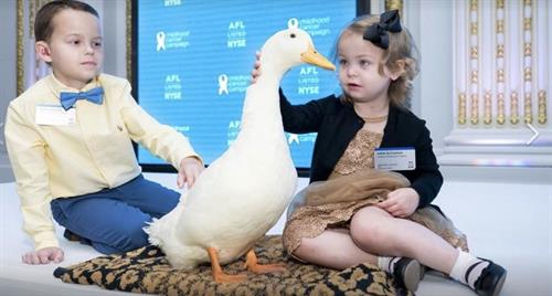 Since 1995, Aflac Field Force has donated more than $130 million dollars to the Aflac Cancer Center that is dedicated to finding a cure.