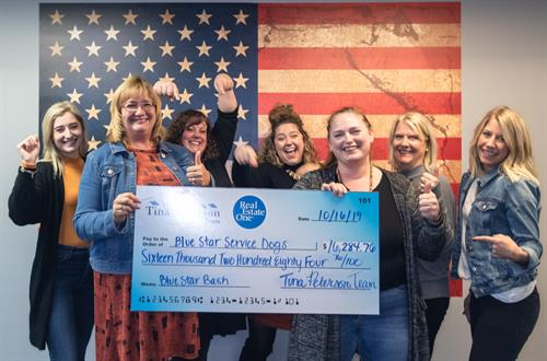 We raised over $16,000 for Blue Star Service Dogs at our Blue Star Bash!