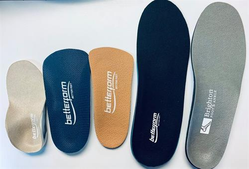 Come on in and get some custom orthotics!