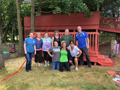 Volunteering - Painting the Richfield Public Schools Treehouse