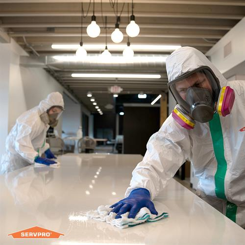 Show employees and customers you've chosen the highest level of cleaning. Our new Certified: SERVPRO Cleaned program is a weekly viral pathogen cleaning service, designed just for your business.