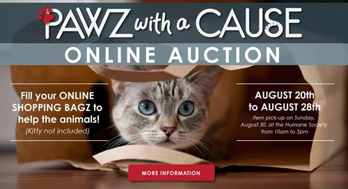 Paws with a Cause Online Auction: August 20-28, 2020
