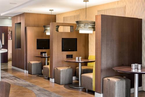 Bistro Booths with Built-in Television