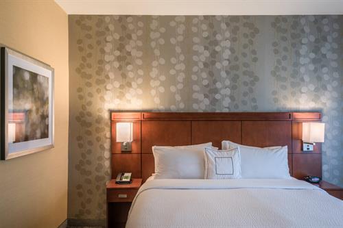 One-Bedroom King Suite- Sleeping Area