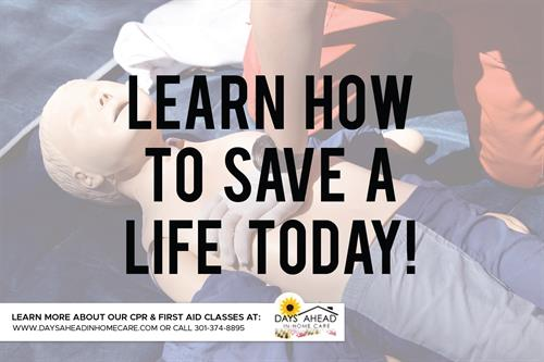 Learn how to save a life!
