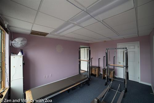 Energizing Room for core based resistance training with the Pilates Equipment